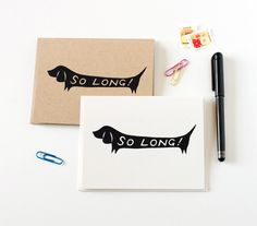 So Long Dachshund Cards | Pretty Fluffy