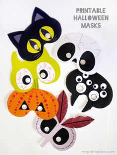 6 Printable Halloween masks