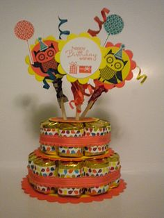 Owl Occasions Candy Cake