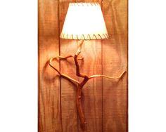 Natural Mountain Laurel Branch Wall Lamp