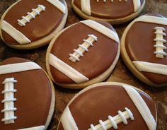 SweetTweets - Football Cookies - 12 Cookies. $36.00, via Etsy.