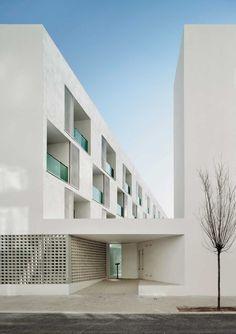 arquitectura, social hous, facad, architectur socialh, build, apartments, travi, barcelona spain, design
