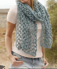 bufanda hecha a crochet primaveral Honeycomb / MordisShop - Artesanio