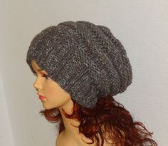 knit hat slouchy women  beanies hat  Slouch Beanie  by Ifonka, $28.00
