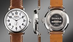 THE RUNWELL 47mm Brown Leather Watch | Shinola®