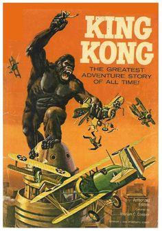 book cover art, movi poster, keys, gold key, comic books, king kong, book covers, comic cover, comics