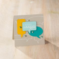 What's all the talk about? The Word Bubble Framelits from Stampin' Up! Check out the Big Shot Promotion.