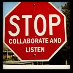 Stop sign street art.