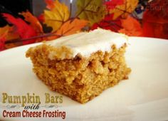 Pumpkin Bars with Cream Cheese Frosting | Holiday Cottage