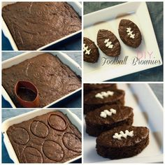 Football Brownies (okay, not a recipe, but gotta remember)