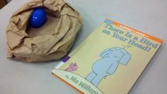 Mo Willems - Elephant & Piggie activity bird nest (paper bag) with plastic egg relay (narratingtales)