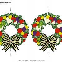 #Christmas Holly Ornament. Give a like!
