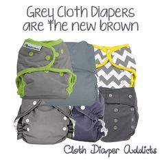 Grey Cloth Diapers are the New Brown