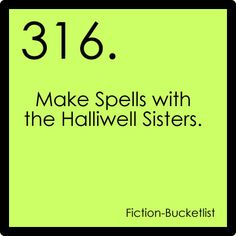 Charmed {fictional bucket list}
