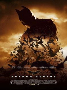 Batman Begins Movie Poster #4 - Internet Movie Poster Awards Gallery