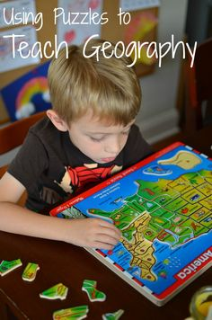 using puzzles to teach geography (via @In Lieu of Preschool  Parent Teach Play)