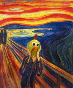 El pollo dramático.