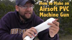 How To Make Your Own PVC Airsoft Gun | Tutorial & Instructions http://youtu.be/j0f0uMtTQrE  Step-by-step tutorial- http://diyready.com/pvc-airsoft-machine-gun/ We really liked the soda bottle airsoft gun, we we decided to try making some improvements. This design looks more like a gun and is much easier to load with ammunition.  https://www.youtube.com/watch?v=j0f0uMtTQrE