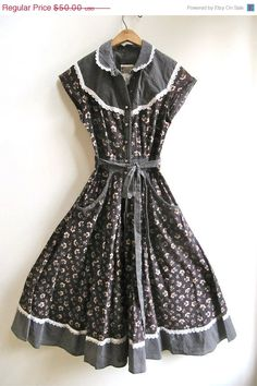 ON SALE Gunne Sax Prairie Dress Country Size 5 by worldvintage, $37.50
