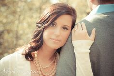 Outdoor Fall Engagement Photo Wedding  Nicole Christine Photography