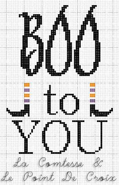 Lacomtesse&lepointdecroix: Boo...to you! free crossstitch
