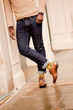 Yellow leopard socks