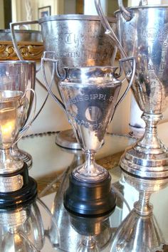 Vintage trophy cups