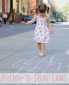So much fun for preschoolers learning to count with these 20 fun games.
