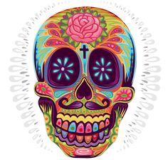 ! jimmi gleeson, color art, mexican skulls, illustrations, behance, sugar skull, dead, tattoo, gleeson design