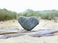 I love heart-shaped rocks.