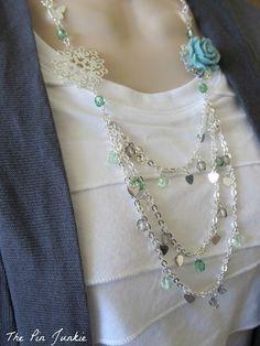 DIY tutorial for creating a custom necklace.