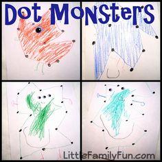 Make your own dot-to-dot Monster!