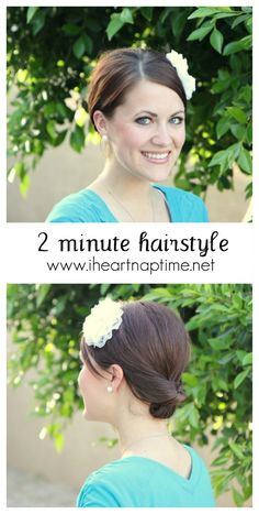 Super cute and easy hairstyle anyone can do in about 2 minutes!