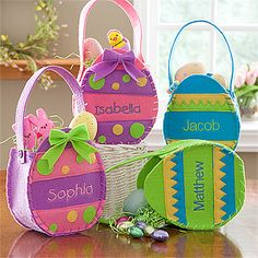 Personalized Easter Baskets - Easter Egg Treat Bags : Get Discounted Gifts at PersonalizationMall.
