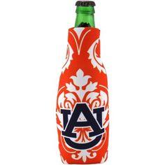 Auburn Tigers Damask 12oz. Bottle Koozie