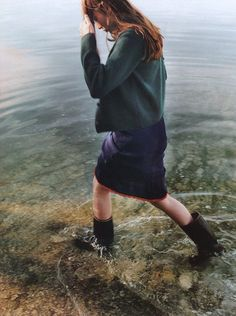 in lake.