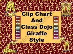 Clip Chart and Class Dojo - Giraffe Style from Frogtastic Friends on TeachersNotebook.com (32 pages)  - Combing Clip Chart and Class Dojo - a perfect match.  This unit has pages with class dojo and without dojo points.  It also has with and without clipart.  Just print and assemble!