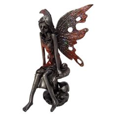 Pewter Fairy Figurine/Statue For Decoration by RedNWhite on Etsy, $8.75