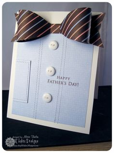 bow tie shirt Father's Day card - bjl