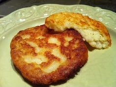 potato cakes. best use of left over mashed potatoes ever!