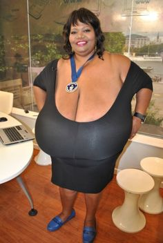 Nature gone too far ~ Annie Hawkins-Turner has largest natural breasts according to Guinness World Records ~ ever heard of cup size 102ZZZ? Each breast weighs 85 pounds.