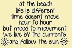 At the beach life is different......