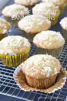 Orange Coconut Banana Muffins
