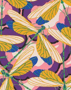 Eugène Séguy Image Via: Miss Moss color art, insect pattern, textile patterns, art prints, bug