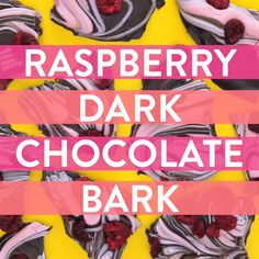 Make this swirled raspberry and dark chocolate bark for your valentine this Valentine's Day!