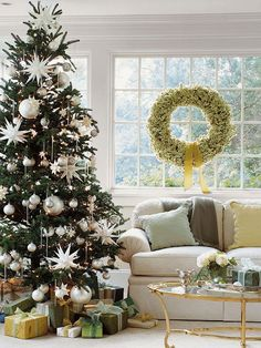 We love the look of these whimsical, oversize ornaments! Get tips for a stunning Christmas tree: http://www.bhg.com/christmas/trees/christmas-tree-decorating-tips/?socsrc=bhgpin111512oversizeornaments