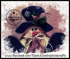 Cute fat little snowman painted by me using a Kendra Reys design. Marie's Country Woodcrafts