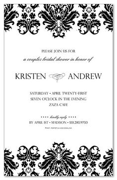 What's Your Motif Bridal Shower Invitations