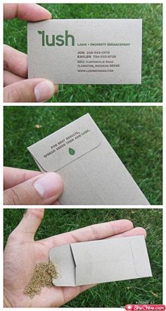 Curiosas tarjetas de visita.