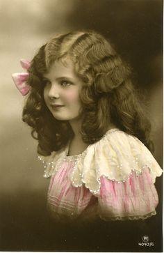 Vintage Postcard ~ Child Beauty. Photo by Cheryl Hicks.